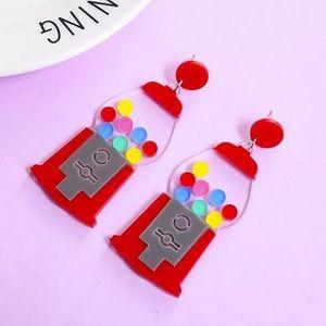 NWT Boutique Bubblegum Earrings